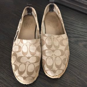 Used Coach Tan Espadrille